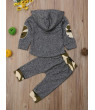 Pudcoco Winter Kids Baby Boy Girl Outfit Hooded Long Sleeve Tops+Pants Set