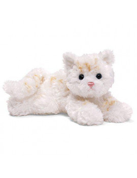 Bootsie Cat Plush - White with Orange Stripes, Bootsie is 9 inches long By GUND