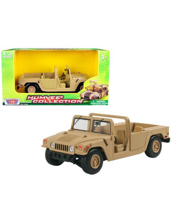 Motormax 73296brn Humvee Military Base Platform Brown 1-24 Diecast Model Car