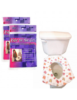10 Disposable Kids Half Fold Paper Toilet Seat Covers Infant Potty Training Soft