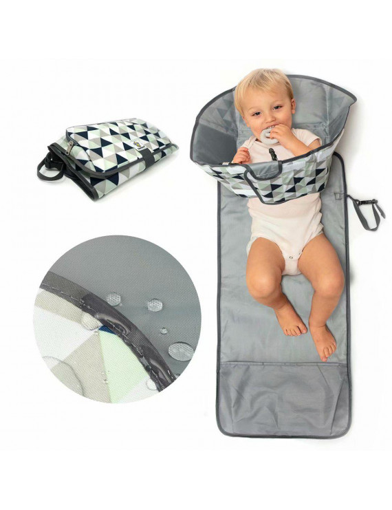 SnoofyBee Large Baby-Changing Travel Pad Diaper Clutch, Accessories for Babies Clean Hands Changing Pad Excursion Edition Triangle