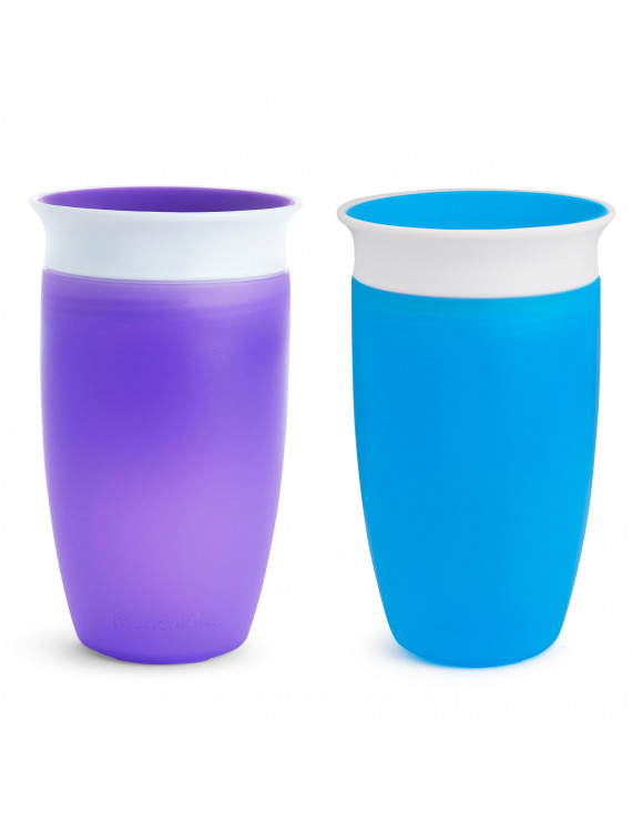 Munchkin Miracle 360 Degree Sippy Cup, 10oz, 2pk, Blue & Purple