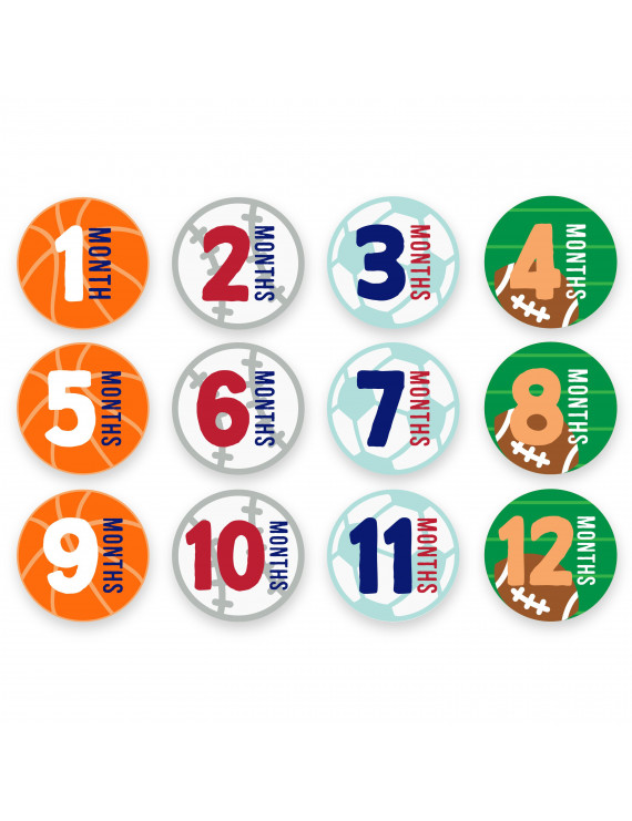 Baby First Year Milestone Belly Stickers