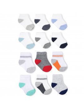 Child of Mine Baby Boys Low Cut & Quarter Crew Socks, 12-Pack