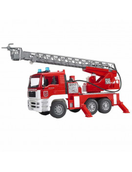 Bruder toys fire engine with slewing ladder/water pump/lights/sounds | 02771