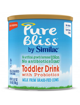 Pure Bliss by Similac Toddler Drink with Probiotics, Starts with Fresh Milk from Grass-Fed Cows, Non-GMO Toddler Formula, 24.7 ounces
