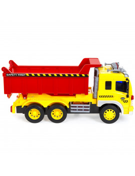 Best Choice Products Kids 1/16 Scale Push-and-Go Garbage Dump Truck w/ Lights/Sounds and Dump Bed