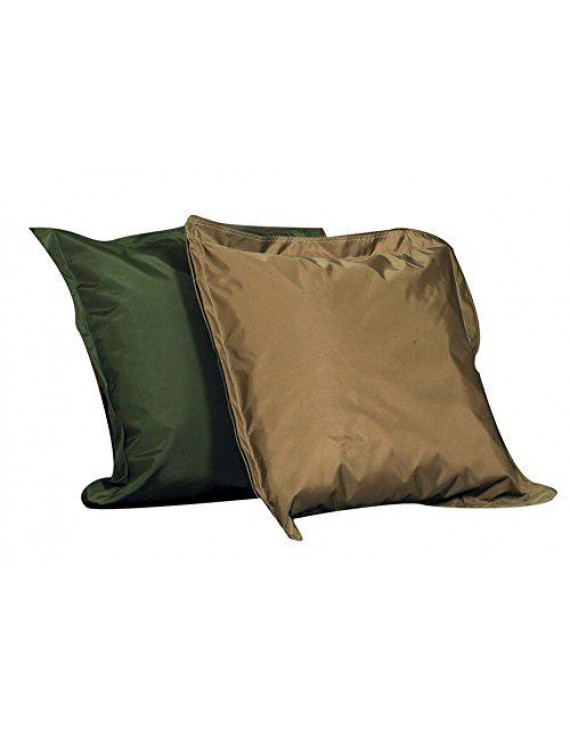 Indoor/Outdoor Pillows - Set of 2 - Forest Green & Tan