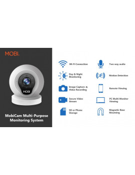 (2 pack) MobiCam Multi-Purpose, Wi-Fi Video Baby Monitor, Baby Monitoring System, Wi-Fi Camera
