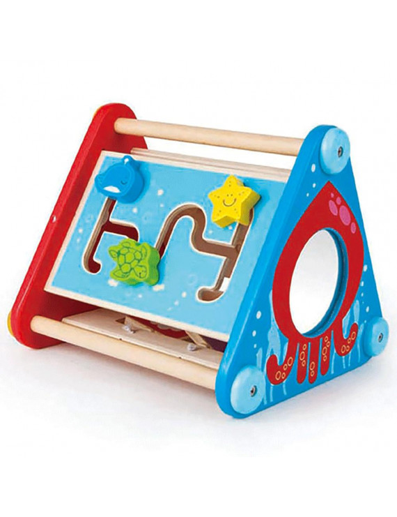 Hape Take Along Wooden Baby Toddler Activity Skill Learning Building Box Toy