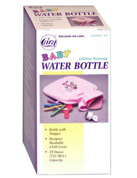 Baby Hot Cold Water Bottle with Cloth Cover, Comes with soft removable cover to be gentle on baby's skin By Cara