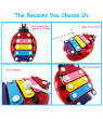 Colorful 5 Tones Kids Children Piano Piece Cartoon Ladybird Shape with Mallet Percussion Musical Instrument Toy