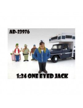 """One Eyed Jack Trailer Park"" Figure For 1:24 Diecast Model Cars by American Diorama"