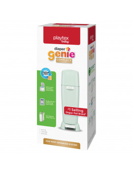 Playtex Diaper Genie Complete Green Diaper Pail with 1 Refill
