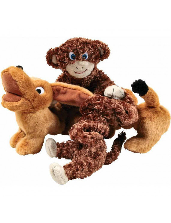 Abilitations Stretchy Pets, Dog and Monkey Doll, Set of 2