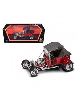 1 by 18 1923 Ford T-Bucket Soft Top Burgundy Diecast Model Car, Red
