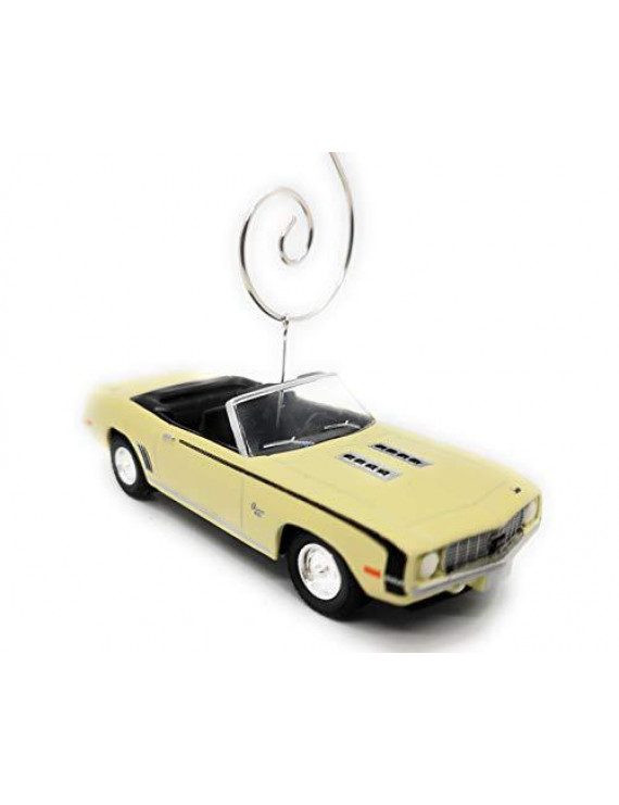 1969 Chevy Camaro SS Car Custom Christmas Ornament 1:64 Diecast Yellow