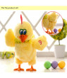 SUPERHOMUSE Electric Musical Dancing Chicken Hens will Laying Eggs of chickens Doll Raw Crazy Singing Dancing Pet Plush Toy Kids Gift