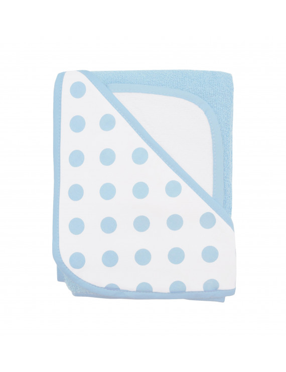 American Baby Company Cotton Terry Hooded Towel Set, Blue Dot, for Boys and Girls