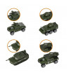 Iuhan 6 Pack Assorted Alloy Die-cast Military Vehicles Models Car Toys Set