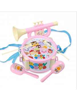 6Pcs Kids Baby Roll Drum Musical Instruments Band Kit Children Toy