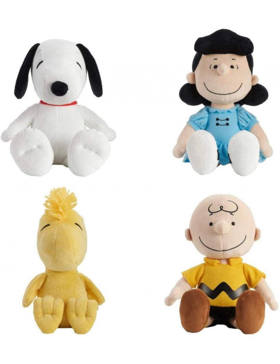Set of 4 Kohl's Cares Snoopy, Charlie Brown, Lucy & Woodstock Plush