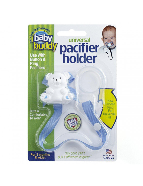 Baby Buddy Universal Pacifier Holder, Blue
