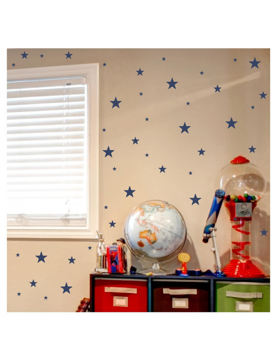 Set of 300 Stars Assorted Self Adhesive Wall Pattern Decal Stickers (Navy)