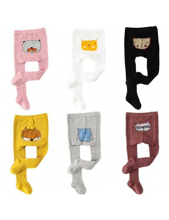 Newborn Baby Boy Girl Infant Toddler Warm Long Knitted Legging Pants Trousers 0-6 Years