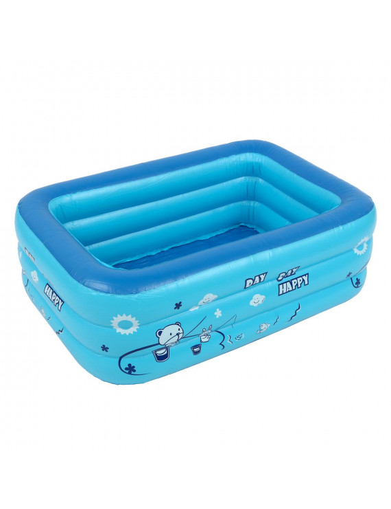 Inflatable Family Swim Center Pool with Inflatable Soft Floor Kids Swimming Pool Bathing Tub Outdoor Indoor