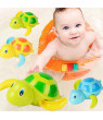 3pcs Bath Swimming Turtle Toy for Baby Toddler, Wind Up Chain Bathing Water Toy, Swimming Tub Bathtub Pool Cute Swimming Turtle Toys for Boys Girls.