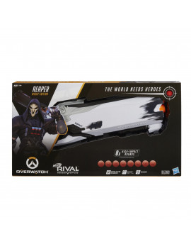 Nerf Overwatch Reaper (Wight Edition) & 8 Overwatch Nerf Rival Rounds