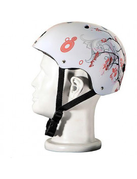 Punisher Skateboards Cherry Blossom Pink and White Adjustable All-Sport Skate-Style Helmet, Medium