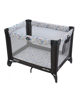 Graco Pack and Play Portable Playard | Push Button Compact Fold, Carnival