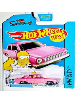 Hot Wheels City The Simpsons Pink Family Car