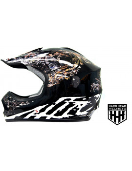 DOT Youth & Kids Helmet for Dirtbike ATV Motocross MX Offroad Motorcyle Street bike Helmet (small, Black Camo)