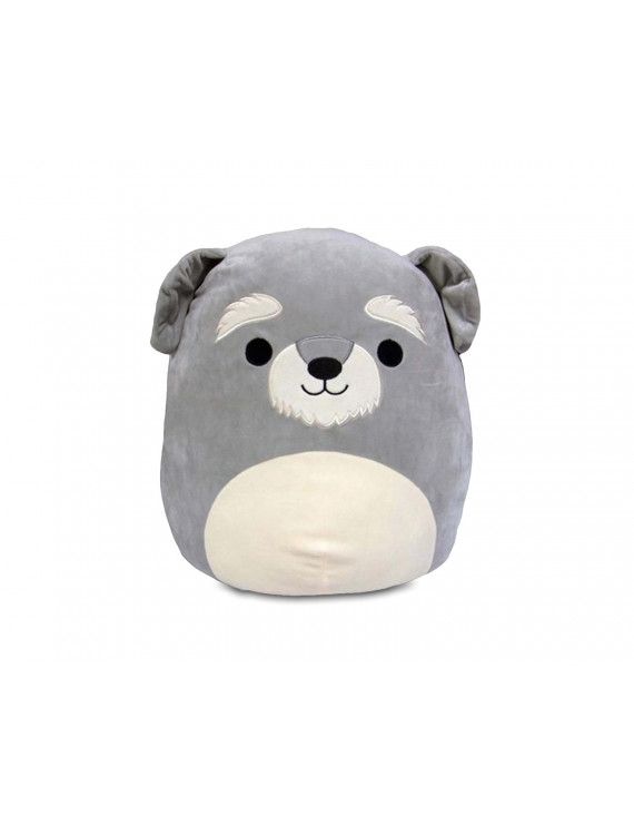 Squishmallow 12 Inch Pillow Plush | George the Grey Schnauzer