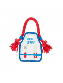 BarkBox Plush and Rope Dog Toy - Grrrill Champ Apron