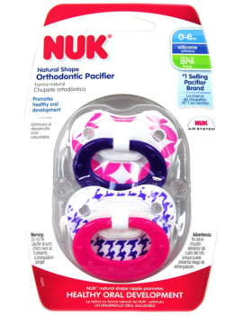 3 Pack - NUK Orthodontic Pacifier, 0-6 Months, 1 ea