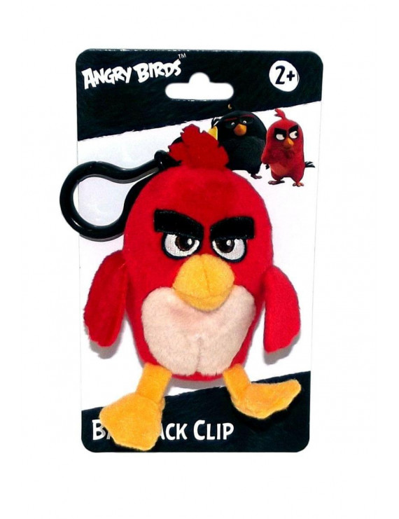 """Angry Birds Movie 4.5"""" Plush Clip On: Red"""