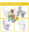 Peroptimist Travel Portable Folding Potty Training Toilet Seat Cover, Non Slip Silicone Pads Suitable for Babies Toddlers and Kids