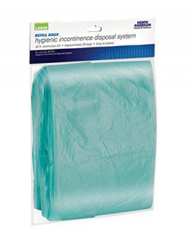 Adult Hygienic Incontinence Disposal Diaper System Large - Refill Bags