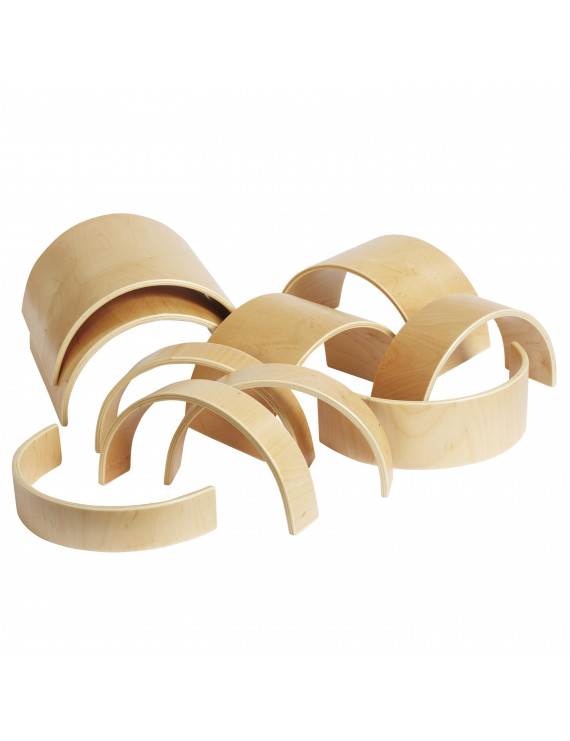 Wooden Tunnels and Arches 10-Piece Set