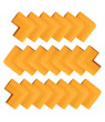 20pcs Desk Table Edge Foam Corner Cushion Guards Strip Roll Soft Bumper Protector with Stick Tapes Orange