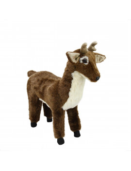 "21.5"" Extra Soft Standing White Tail Deer Stuffed Animal Footrest"