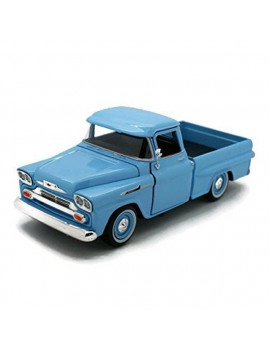 1 by 24 1958 Chevrolet Apache Fleetside Pickup Diecast Car Model, Light Blue