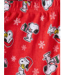 Snoopy Baby Girls' Christmas Long Sleeve Tight Fit Pajamas, 2-Piece Set