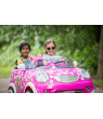 Disney Minnie Mouse Hot Rod Coupe Ride-On Toy by Kid Trax, 12 Volt, pink