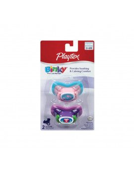 Playtex Binky Silicone Pacifier - 0-6 Months - 2 Pk - Boy + 3 Count Eyebrow Trimmer