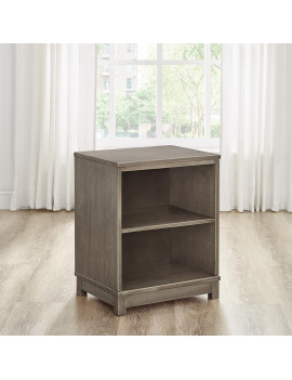 Modern Essentials Charlotte Two Shelf Solid Wood Bookcase/End Table, Multiple Colors